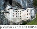 Famous Predjama castle in the mountain 46410858