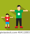 Man and children flat icon 46411893