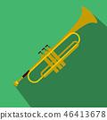 Trumpet simple flat icon 46413678