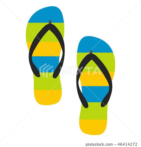 Beach slippers icon 46414272