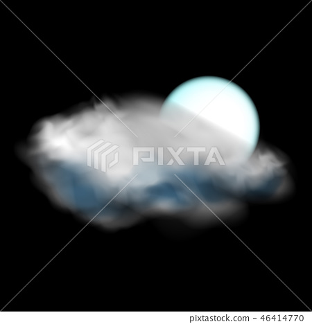 Moon and cloud weather icon 46414770