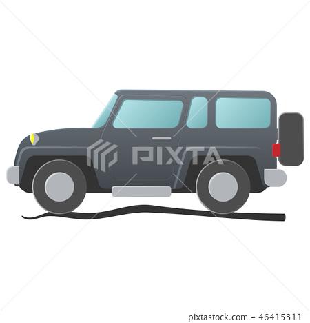 Sport utility vehicle. Cartoon illustration 46415311