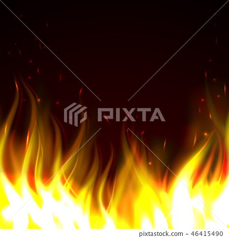 Background with fire 46415490