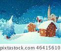 Village in the night 46415610