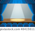 spotlight, theater, curtain 46415611