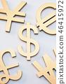 금색, 금융, 달러 46415972