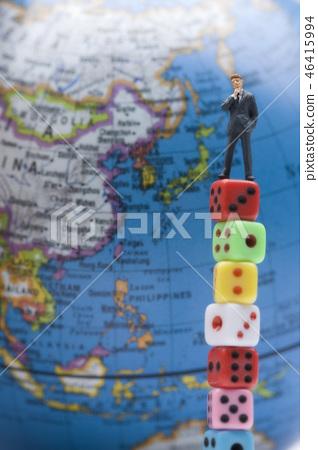 模型,骰子,地球 46415994