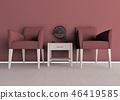椅子對單色 46419585