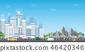 Landscape city with large modern buildings 46420346
