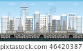Chemical industrial landscape on urban city 46420387