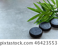 Hot Stone with green leaf Thai spa and healthcare  46423553