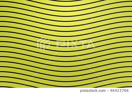 3d rendering, black curved line on yellow plastic  46423766