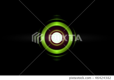 Abstract eye green light effect with sound waves 46424382
