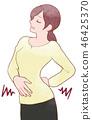 Woman / stomachache 46425370