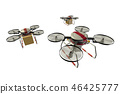 Drone delivery image (formation flight / transparent material version) 46425777