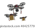 Drone delivery image (formation flight / transparent material version) 46425779