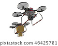 Drone delivery image (formation flight / transparent material version) 46425781