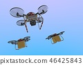 Drone delivery image (formation flight · empty back) 46425843