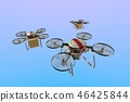 Drone delivery image (formation flight · empty back) 46425844
