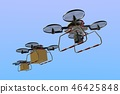 Drone delivery image (formation flight · empty back) 46425848