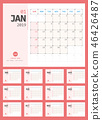 Calendar 2019 Planner Design. Starts Sunday. 46426487