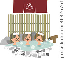 Hot spring at female friend 46426761