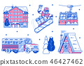 Mountain Ski Resort Icons and Elements 46427462