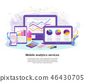 marketing, app, vector 46430705