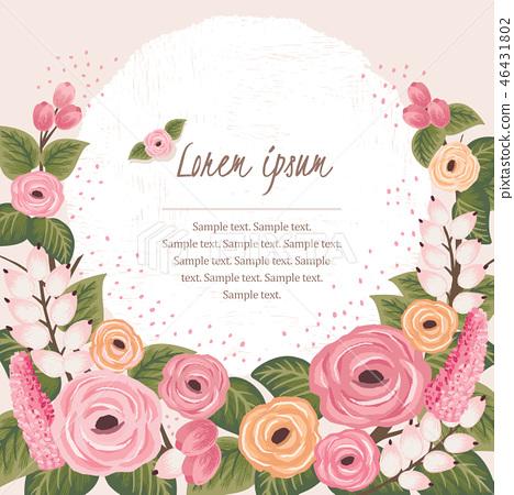 Vector illustration of a floral frame 46431802