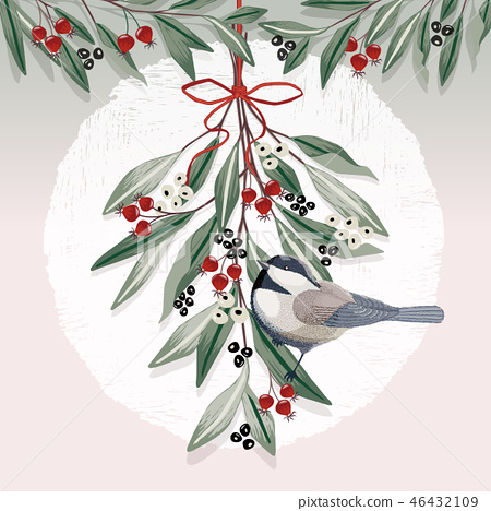 Vector illustration of a Christmas decoration  46432109