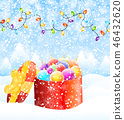 Christmas greeting card vector 46432620