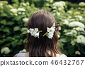 Bride with white flowers in her hair 46432767
