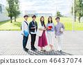 年輕女性,大學生,專業學生 46437074