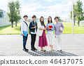 年輕女性,大學生,專業學生 46437075