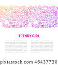 girl, vector, design 46437730
