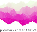 Abstract futuristic 3D mountains landscape on alien planet. 46438124