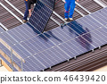 Solar panel and workers. 46439420