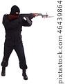 aiming, male, rifle 46439864