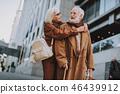 couple, senior, hug 46439912