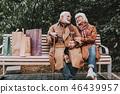 couple, senior, bench 46439957