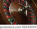 roulette wheel closeup 46440094