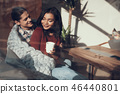 knitted, couple, woman 46440801