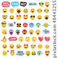 Emoji emoticons symbols icons set. Vector 46443255