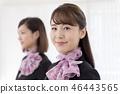年轻的女士,2人,接待员 46443565