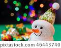 聖誕節圖像禮物雪人照明 46443740