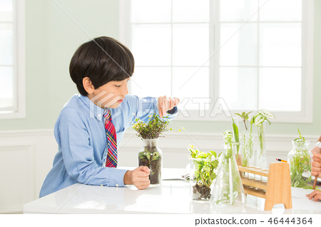 Young Student In Biology Class  46444364