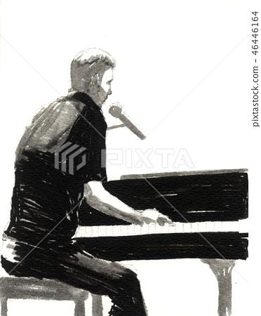 피아노 46446164