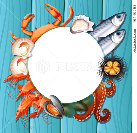 Mix fresh seafood template 46446365