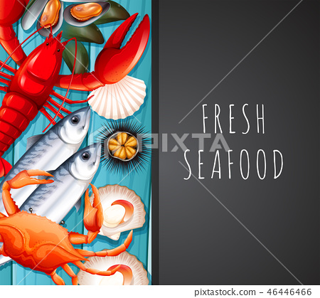 Seafood on restaurant template 46446466