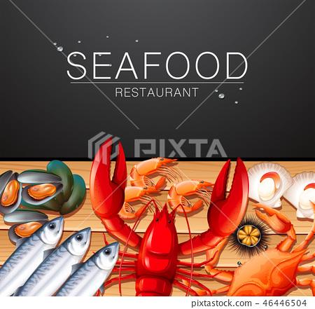 Seafood on restaurant template 46446504